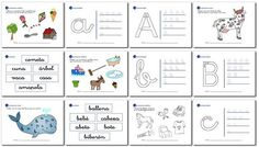 Actividades de lectoescritura para niños de 5 años y primer grado a, b, c, d, e. Bookmarks, Bullet Journal, Milan, Deco, Google, Kids Math, Preschool Math Games, Preschool Alphabet Activities, Preschool Learning Activities