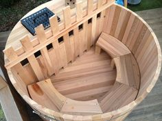 Canadian red cedar wood-fired hot tubs