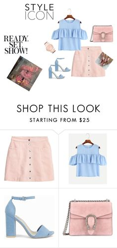 """Why NOT?"" by lana-653 ❤ liked on Polyvore featuring H&M, Nly Shoes, Gucci, Michael Kors and blue_shoes"