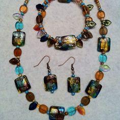 Brown & Turquoise Set - popespizazz@gmail.com