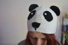Häkeln, Mütze Panda