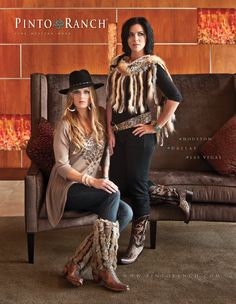 Shot in the lobby of an apartment complex in Houston. Who would have thought! Beautiful inset glass panels really gave this shoot an artistic feel. This ad showcased fab fur accessories by Pat Dahnke. The rabbit shawl sold out quickly and the boot toppers are a must-have. Is this western wear '80's style? January/February 2011. #CowgirlMagazine, WHERE Las Vegas, WHERE Dallas, #SPIRITMagazine