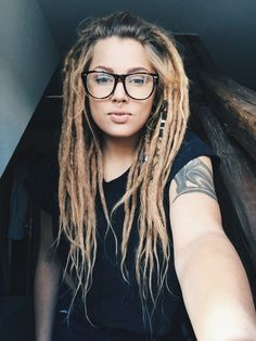 Boho, dredy, dredy, děvče, hippie, indie, make-up, propíchnutých, Sphynx, tetování, dreadedgirls