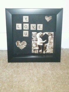 Photo Frame With Love You Crossword To Make Perfect Valnentines Day Gift