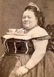 victorian Lady with tea cups