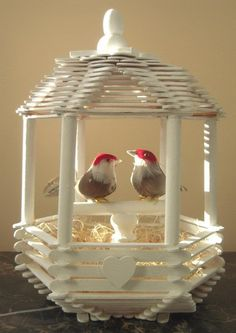 14 love bird popsicle stick house