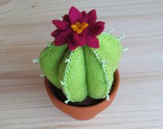 Felt Cactus Pin Cushion by OnceAgainSam on Etsy