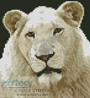 Mini White Lion Cross Stitch Pattern…