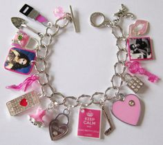 Pretty Little Liars Inspired Pink Spoby Charm by BookGeekBoutique, $20.00