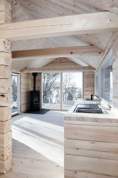 to fork; Dandelion Pesto - dandelion -Forest to fork; Dandelion Pesto - dandelion - This log cabin in Norway joins a new structure to two existing one-room cabins, one over 100 years old. Together they have 3 bedrooms in 915 sq ft. Small Log Cabin, Tiny House Cabin, Log Cabin Homes, One Room Cabins, Cabins In The Woods, House In The Woods, Tiny House Movement, Casa Pizza, Cabin Interior Design