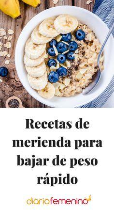 Recetas de merienda para bajar de peso rápido #recetas #dietasana #DiarioFemenino
