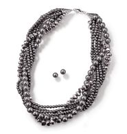 Grey Pearlesque Multistrand Necklace and Earring Gift Set $12.99 www.youravon.com/pamelataylor