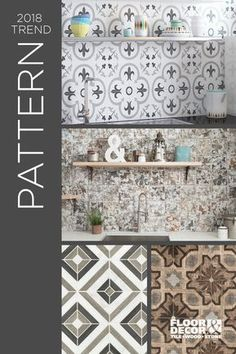 Find The Perfect Patterned Tile To Transform A Blank Wall Into A  Eye Catching Focal Wall. Explore These Tiles From Floor U0026 Decor.