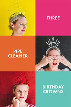 Make your own pipe cleaner crowns and get in the party spirit! Plus, a SALE for birthday items in the Lars Shop! Family Party Games, Book Week Costume, Diy Headband, Headbands, Scout Leader, Family Birthdays, Inspiration For Kids, Party Printables, Crowns