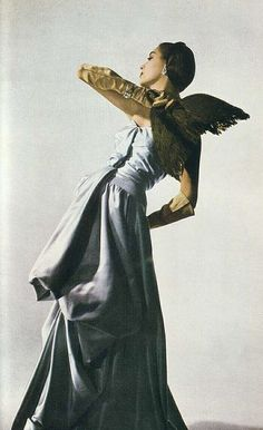 Dress by Charles James, photographed by Louise Dahl-Wolfe for Harper's Bazaar, 1950s.