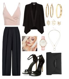 """""""Black And Fab #13"""" by carlamaritza-medinaleon ❤ liked on Polyvore featuring Iris & Ink, Coast, Cartier, Charlotte Russe, CLUSE, Sole Society, Bony Levy, NYX and Givenchy"""