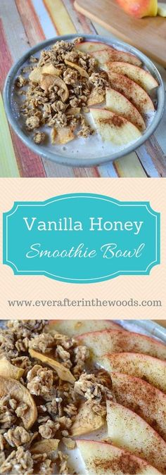 Vanilla Honey Smoothie Bowl http://everafterinthewoods.com/2016/03/23/smoothie-bowl/ #GranolaMyWay #cbias #AD @quaker