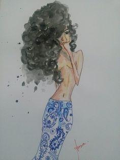 mañana  #drawing #aquarela