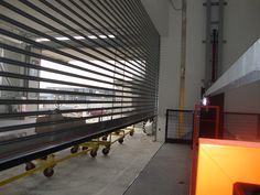 La piattaforma di sollevamento industriale realizzata da Ecospace per un importante gruppo industriale vicentino.