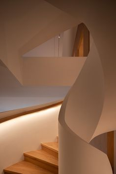Hangzhou Spiral Villa | Tsutsumi and Associates | Media - Photos and Videos - 10 | Archello Interior Minimalista, Hangzhou, Spiral Staircase, Second Floor, Villa, Stairs, Flooring, Photo And Video, Lighting
