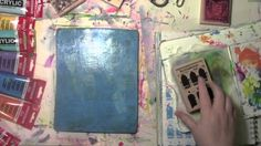 Use rubber stamps on a Gelli Plate and stamp off into an art journal. Read the full post and photos at http://acolorfuljourney.com/?p=4932 Thanks for watchin...