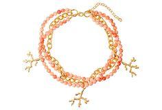Pink Coral Necklace on OneKingsLane.com