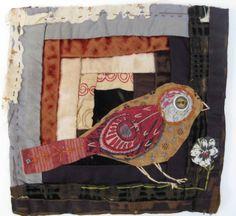 quilt piece: http://threadandthrift.blogspot.com/2013/09/log-cabin-birds.html