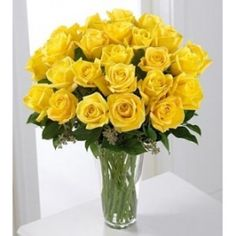 A yellow rose bouquet of a dozen yellow roses in a glass vase (FTD Yellow Flower Arrangements, Rosen Arrangements, Yellow Rose Bouquet, Yellow Flowers, Flowers Bunch, Get Well Flowers, Sympathy Flowers, Same Day Flower Delivery, Flowers Delivered