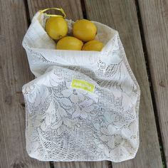 Terrific No Cost bags material fabrics Suggestions , , This reusable produce bag was made from upcycled fabric. The yellow that can be found around the edges and in the label of all HASOM bags represent the universal color of. Fabric Crafts, Sewing Crafts, Sewing Projects, Upcycled Crafts, Reduce Reuse Recycle, Produce Bags, Green Life, Reusable Bags, Zero Waste