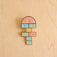 Hopscotch pin from hugaporcupine