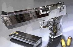 Desert Eagle 50AE. I almost bought one many years ago until I fired it one time. Once... It was like launching a Mini Cooper.