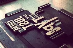 [ wood block type + swoon + printing + #typography ]  Just my Type!