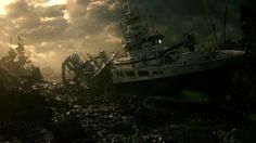 ocean in afternoon / concept art Resident Evil Game, Concept Art, Video Games, Ocean, Concert, World, Outdoor, Trailers, Ships