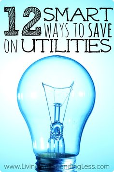 Are you paying more than you have to for utilities?  Don't miss these 12 super smart (and relatively painless) ways to save big on electricity, water, and more.  You'll kick yourself for not trying some of these sooner!