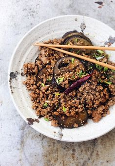 Spicy Eggplant and Minced Pork   This is a simplified and shortcut version of my favorite Sichuan dish called Yu Xiang wherein eggplant pieces are coated in cornstarch, deep fried, and doused with a spicy garlic sauce. This keto version is better than takeout, for sure! #asianketo #ketomeals #ketodinner
