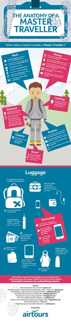 The Anatomy of the Master Traveller #Infographic #Travel