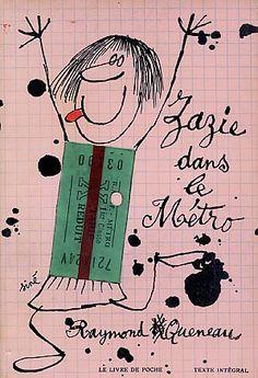 Raymond Queneau's Zazie dans le Métro, cover by Siné