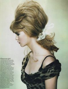 the higher the hair... the closer to God. Roversi, Vogue UK, 2005.