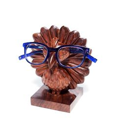 Peacock Shaped Wooden Holder Stand For Eyeglasses, Glasses, Sunglasses or Phone Hand Carved From Indian Rosewood by Matr Boomie Best Eyeglasses, Online Eyeglasses, Eyeglass Stores, Peacock Bird, Eyeglass Holder, Glass Holders, Traditional Art, Fair Trade, Wood Crafts
