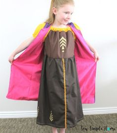 Sew up your own diy anna costume with this free peasant dress pattern and sewing tutorial. Peasant Dress Patterns, Peasant Skirt, Anna Costume, Dress Up Costumes, Princess Anna Dress, Fall Sewing, Dress Up Boxes, Costume Tutorial, Bodice Top