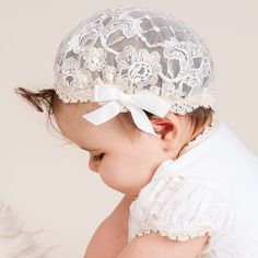 Girl Lace Hat - Gwen Christening & Baptism Collection ★ Baby Beau & Belle