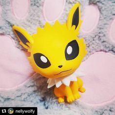 Good morning   #Repost @nellywolfy  #chibikyun #chibi #kyun #figure #figurine #thunders #voltali #jolteon #jolteonprincess #eevee #eeveelution #eeveelutions #evoli #évoli #pokemon #pokémon #pokemon20 #pokemon21 #cute #kawaii #kittypaw #kitty #catpaw