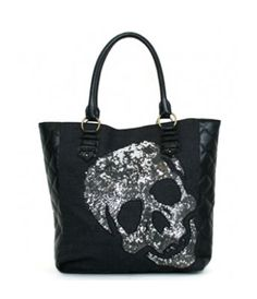 SEQUIN SKULL TOTE | hart Cool Gifts