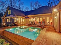 u shaped hip roof ranch style house - Google Search