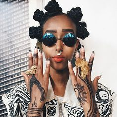 | Pinterest: •❂ TribalModa | @mahoyoofficial came to Afro Punk Paris looking as beautiful as ever. • Afropunk PARIS • NOHATE • Afro Punk • Black Girls Killing It