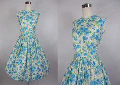 1960's Vintage Ann Herbert  Blue and White by vintagebluemoon, $210.00