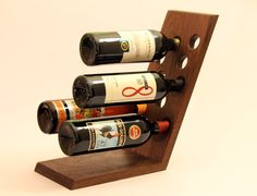 "Wine Rack- Solid Walnut Wine Display - ""the Chadd"""