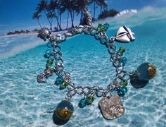 """""""Dreaming of the Sea"""" silver tone bracelet"""