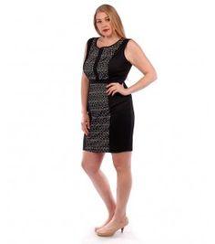 Belle Donne Plus Size Lace Inset Dress