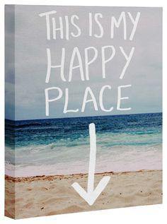 DENY Designs Leah Flores Happy Place X Beach Art Canvas beach-style-prints-and-posters